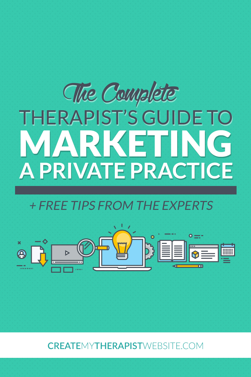 The Complete Therapist's Guide to Marketing A Private Practice - From getting started to building a website, content marketing, SEO and getting more referrals, this guide has all you need to start marketing your private practice strategically and attracting more clients. Check out the free guide: http://www.createmytherapistwebsite.com/private-practice-marketing-guide