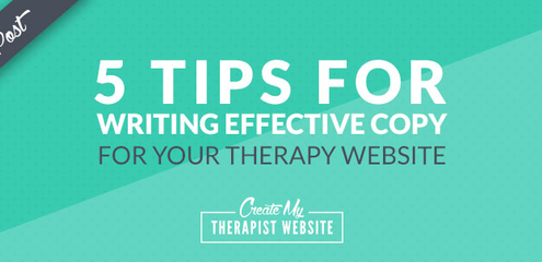 So, not only is a website a key marketing tool, it's essential that your psychotherapy website can convert visitors into clients.