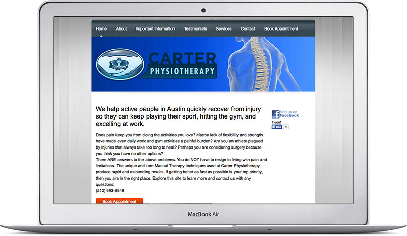 carter physiotherapy old homepage