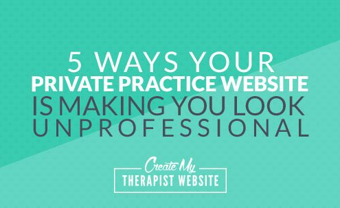 Whether consciously or subconsciously, we make quick decisions about the validity and trustworthiness of a business when looking at their website. The same is true of your private practice. In this article, I'll share 5 ways that you could be sabotaging your professionalism and trustworthiness on your own website.