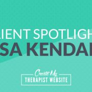 I'm super excited to introduce you to another amazing counselor, Lisa Kendall. I had the pleasure of working with Lisa to breathe new life into her private practice website in order to support her growing counseling and consulting business.