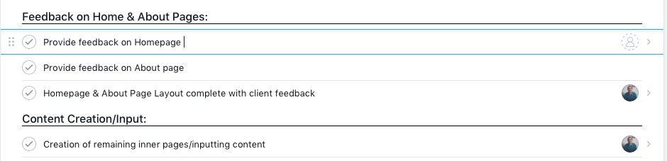 therapist website project feedback