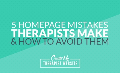 As a designer and consultant, I've reviewed many private practice websites. As I look at these websites, I often come across a handful of issues right on the homepage that, if resolved, could help create a better experience for the therapist's clients. In this article we'll explore 5 homepage mistakes I see therapists make when they build their own website.