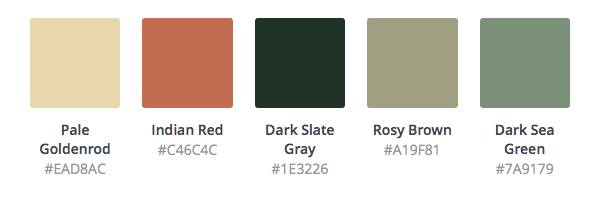 therapy website color palette example
