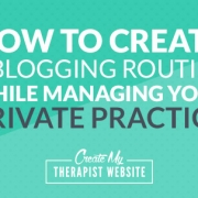 A guest post by Katie Springs Blogging is an important marketing task for mental health practitioners. It helps potential clients who are searching online discover your practice. But when you run your own private practice, you can end up wearing many hats throughout the day.
