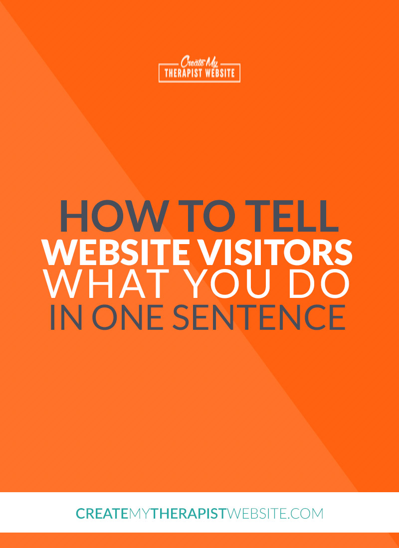 What's one of the quickest ways to encourage a website visitor to leave your private practice website? Make it hard for them to understand who you help and what you do... In this article I'll share with you some tips to create a clear and concise sentence that will let your potential clients know they're in the right place.