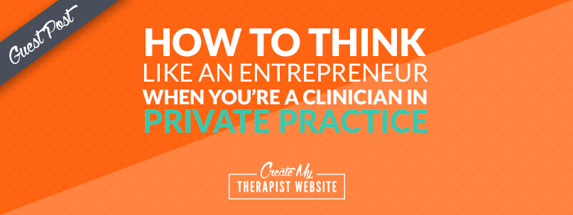 A guest post by Jo Muirhead Have you noticed that there is a lot of talk about being an Entrepreneur when you are the owner of a private practice? If you are a clinician in private practice for yourself, do you think of yourself as an Entrepreneur? I certainly didn't. I initially thought of myself as self employed and over the past 7 or so years I have thought of myself as a business owner, but an Entrepreneur, hmmm I didn't think that fit me. Isn't an Entrepreneurs someone who is on Shark Tank, aren't they people who make a gazillion dollars and have investors? Don't they take massive risks with other people's money, time and lives?